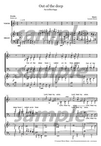 Out of the Deep - SATB
