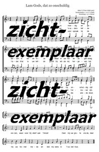 Lam Gods, dat zo onschuldig (SATB) - Conductor's score and parts